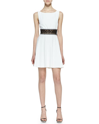 Rowan Lace-Waist Dress