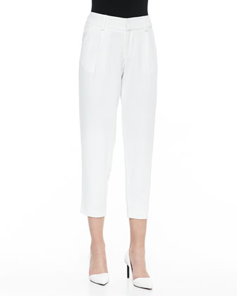 Arthur Knit Lined Pants, White