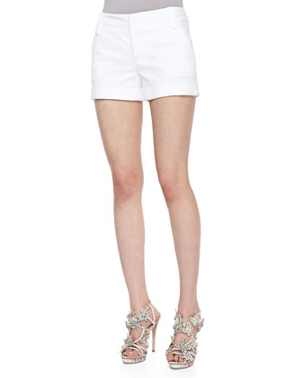 Cady Cuffed Shorts, White