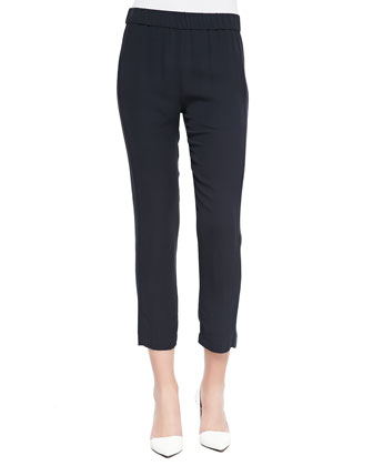 Korene Double Georgette Cropped Pants