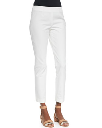 Belisa Checklist Cropped Twill Pants