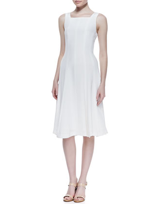 Mayanna Selection Flared Dress, Open Off White