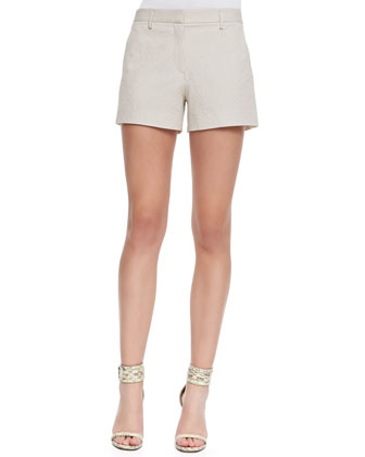 Gemia Cropped Pocket Blouse & Kasim Stretch Seersucker Shorts