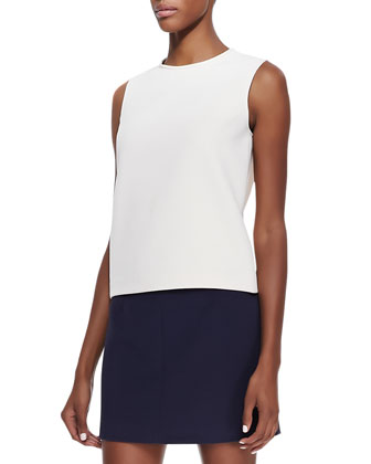 Emlay Sleeveless Crepe Blouse