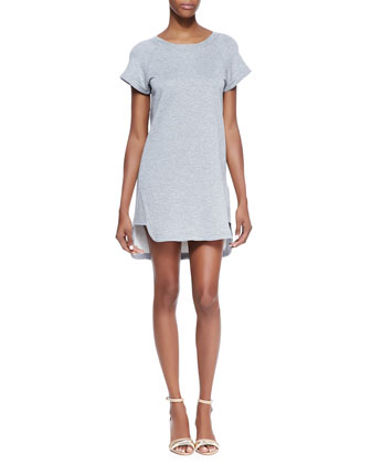 Blounts Short-Sleeve T-Shirt Dress, Heather Gray