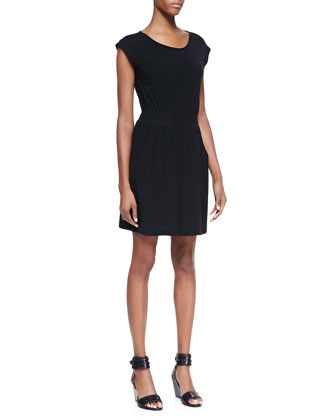 Ettia Cap-Sleeve Sheath Dress, Black