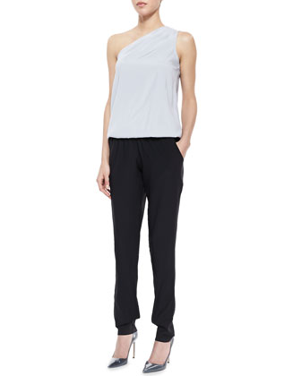 Lulu Colorblock One-Shoulder Jumpsuit