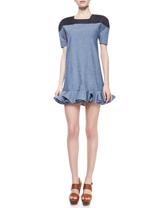 Sonny Two-Tone Chambray Dress