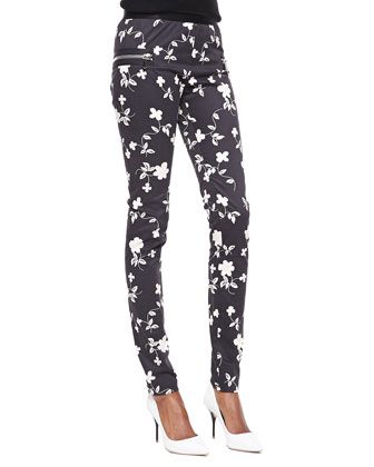 Rock Floral-Print Leggings