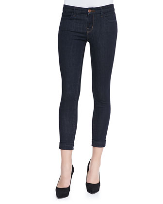 Anja Cropped & Cuffed Jeans, Night Shadow