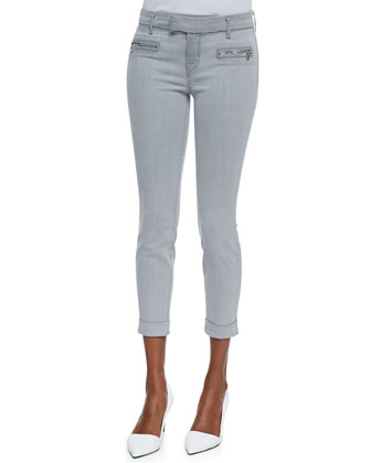 Paulina Rhythm Denim Cuffed Trousers