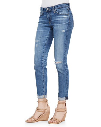 18 Year Fly Away Stilt Roll-Up Distressed Slim Jeans