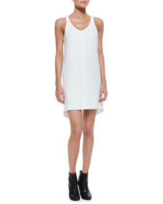 Chieftain Sleeveless Leather-Trim Dress