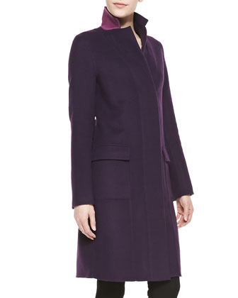 Double-Face Wool-Blend Coat
