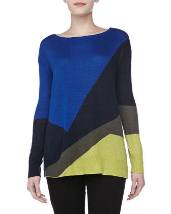 Alpaca-Blend Intarsia Sweater