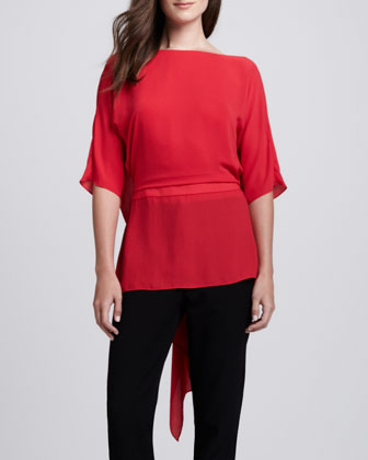 Drape-Back Top