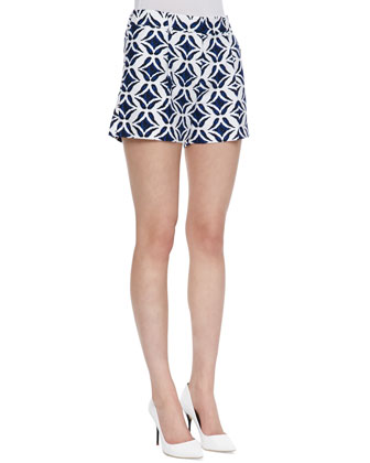 Naples Printed Shorts, Batik Blue/White