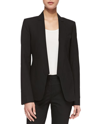Tuxedo-Style Suiting Jacket, Black