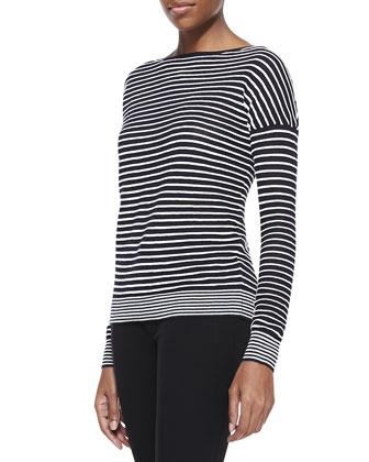 Striped Bateau Long-Sleeve Sweater