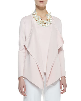 Silk-Cotton Interlock Jacket, Petite