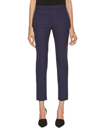 Skinny Tailored Ankle Pants, Midnight