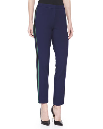 Skinny Jersey-Crepe Pants