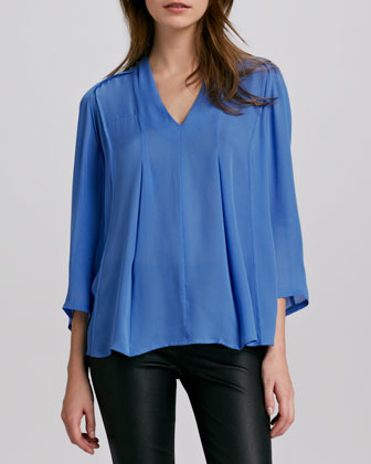 Silk V-Neck Blouse
