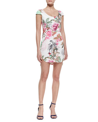 Rhythmic Fantasy Floral-Print Dress
