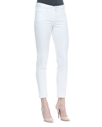 Isabel Ankle Denim Pants, White