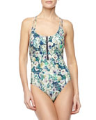 Hula Hibiscus Goddess One-Piece Swimsuit