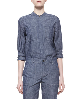 Chambray Pocket Shirt, Rinse