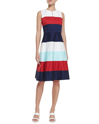 corley colorblock band dress, multicolor