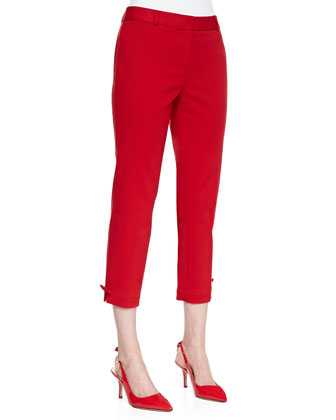 jackie capri pants, lacquer red