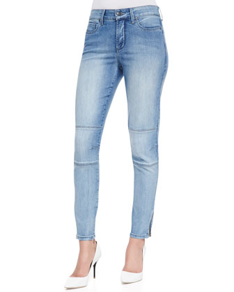 Kerry Super-Skinny Zip-Cuff Denim Jeans, Palos Verdes