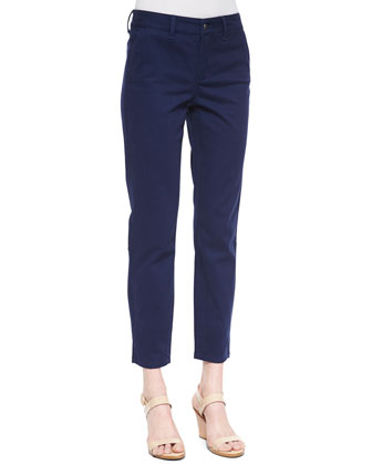 Alieen Twill Ankle Trousers, Petite