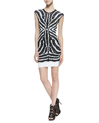 Bengal Lace-Jacquard Sheath Dress