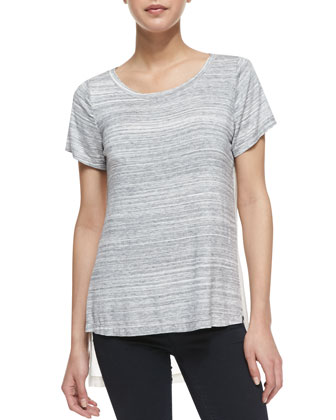 Bly Layered Combo Top, Light Gray