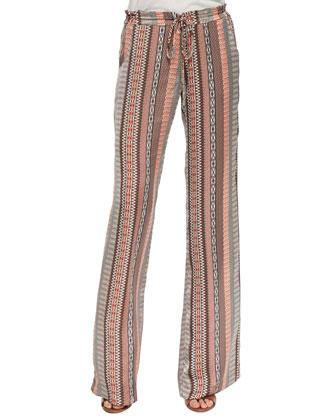 Pembroke Escher-Print Drawstring Pants