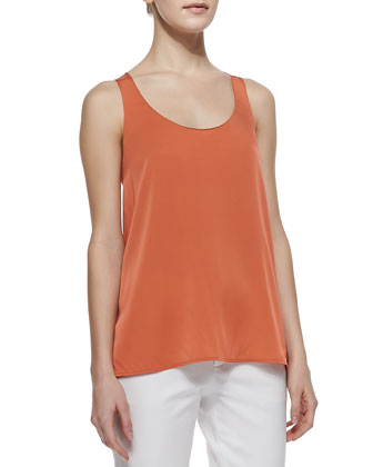 Silk Scoop-Neck Tank Top