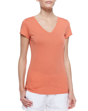 Pima Cotton Short-Sleeve Tee