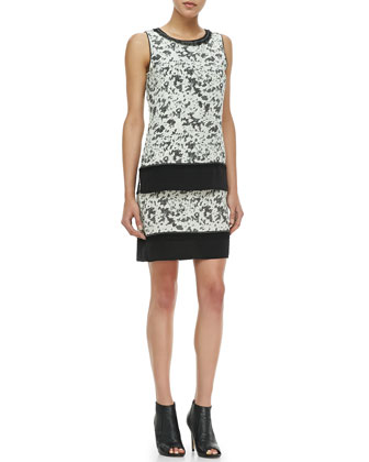 Double Layer Hide Print Dress