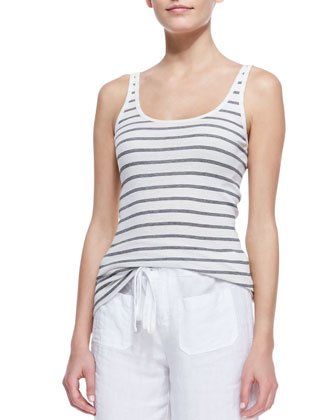 Favorite Striped Tank and Linen Beach Pants