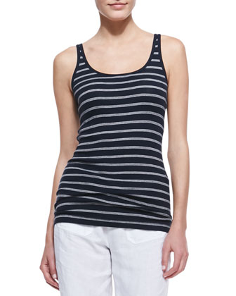 Favorite Striped Tank, Coastal/Papyrus