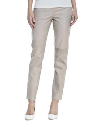 Double-Face Paper Leather Skinny Pants