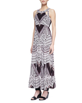 Frost Printed Tiered Maxi Dress