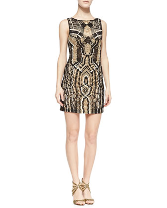 Neapoli Macram?? Dress, Black/Beige/White