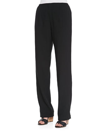 Cabo Straight-Leg Pants, Black, Women's