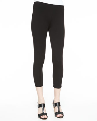 Stretch-Knit Cropped Leggings, Petite