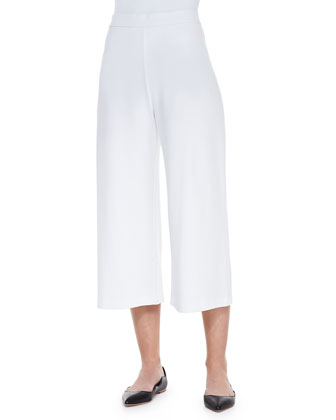 Knit Cropped Wide-Leg Pants