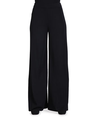 Fit & Knit Palazzo Wide-Leg Pants